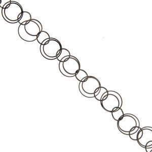Черна метална верижка, 22 мм (50см)