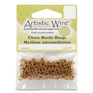 Медни халкички от Artistic Wire за Chain Maille 18G, 4.37мм (140бр)