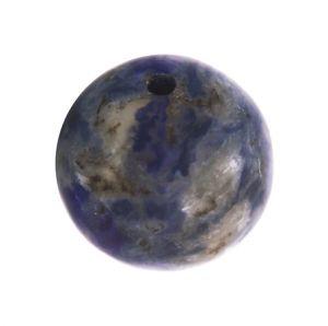 Полускъпоценни камъни - кръгло мънисто от бразилски содалит 8мм (10бр)