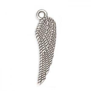 Декоративна метална висулка ангелско крило Бали 26х8мм (4бр)