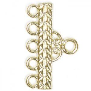 Декоративен метален разделител за пет наниза Бали 22х13х2мм (2бр)