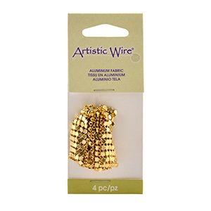 Алуминиева тъкан, Artistic Wire , цвят злато 16х77мм ( 1оп)